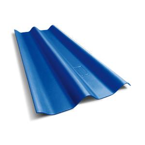 หลังคาลอนคู่ 4 มม. สีฟ้ารุ่งโรจน์ ตราเพชร