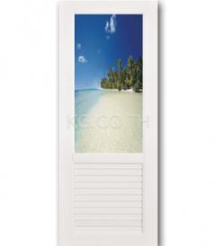 ประตู PVC รหัส 12 รุ่น DECORATIVE GLASS SERIES ตรา King Glass House